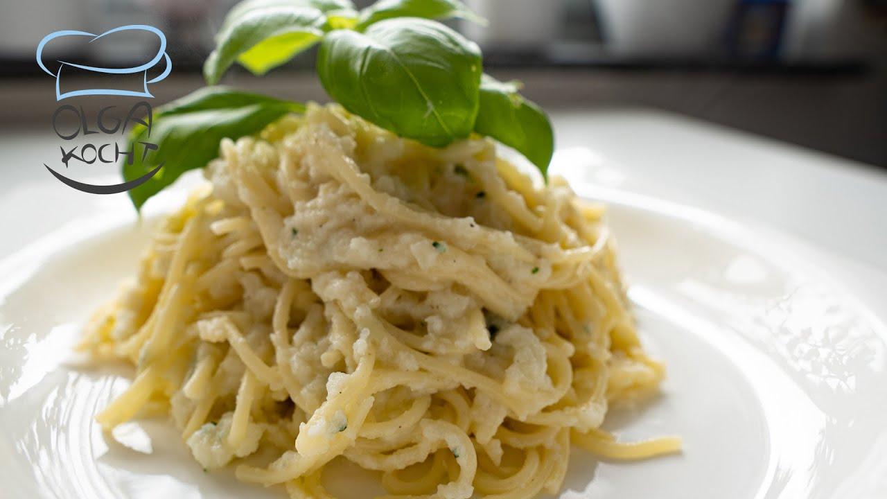 Spaghetti mal anders - Mit selbstgemachter Blumenkohl Sauce