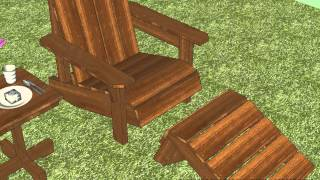Gc101 - Garden Chair Plans - Out Door Furniture Plans - Woodworking Plans