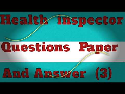 Sanitary Inspector Paper With Answer Morning Sift( 3 )