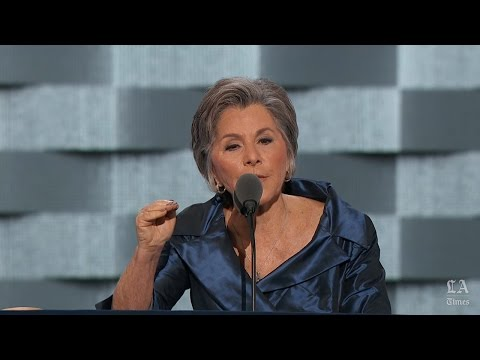Barbara Boxer Of California speaks at the DNC