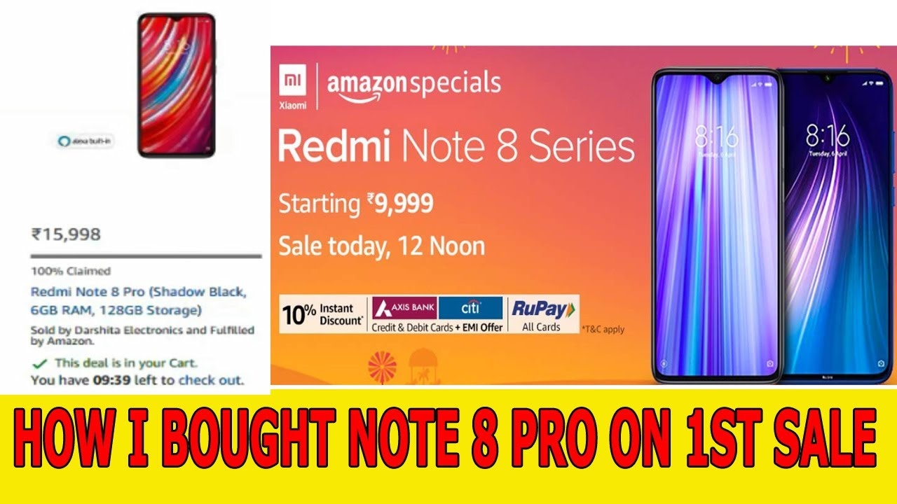 How To Buy Redmi Note 8 Pro On Flash Sale Amazon Best Easy Tricks 2019 Youtube
