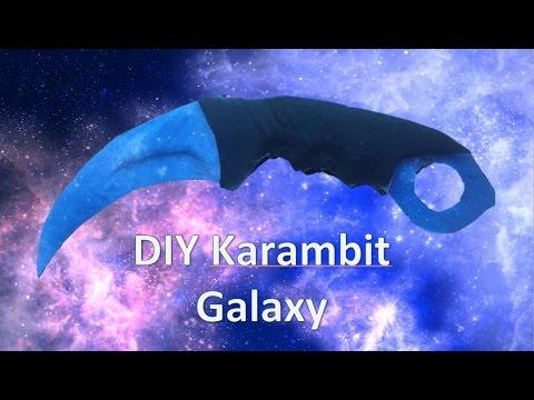 DIY  Cardboard Karambit Galaxy