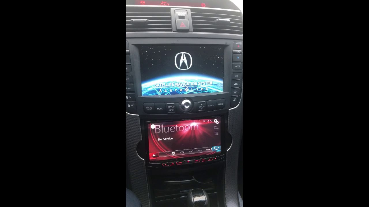 07 tl type s with working navigation and aftermarket double din - acurazine  - acura enthusiast community