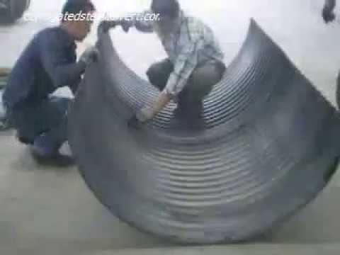 How to assemble the steel culvert