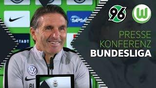 """""""Wir stellen uns auf ein sehr intensives Spiel ein""""   Pressekonferenz   Hannover 96 - VfL Wolfsburg"""