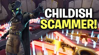 Lying Childish Scammer Exposed! (Scammer Get Scammed) Fortnite Save The World