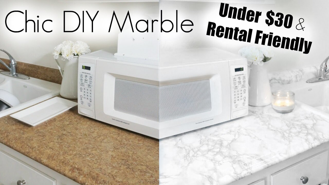 DIY Marble | Apartment Kitchen Makeover - YouTube