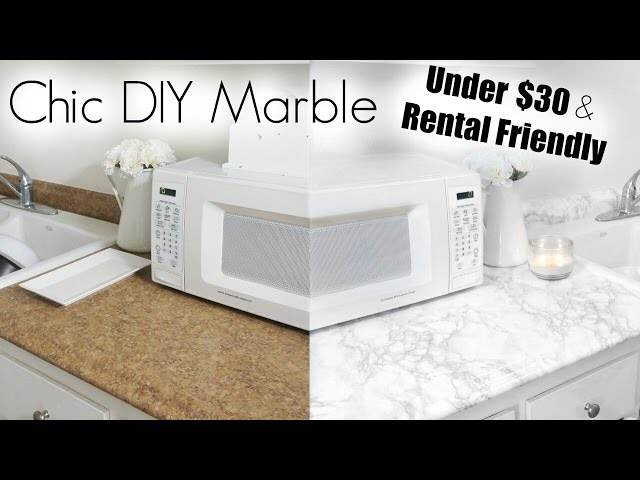 DIY Marble | Apartment Kitchen Makeover