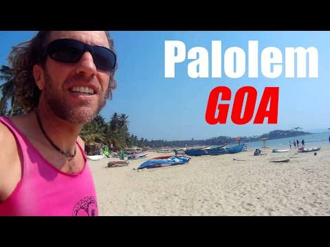 Goa, India: Walking from my beach hut to the Arabian Sea (Palolem)