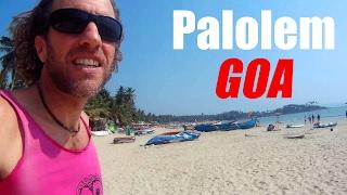 Goa, India: Walking from my beach hut to the Arabian Sea (Palolem)