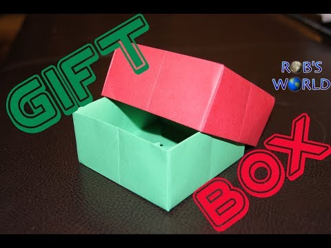 Origami Gift Box with Cover (Easy) - Rob's World