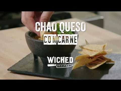 Vegan Queso Con Carne With Field Roast Tomato Cayenne Chao Slices | Wicked Healthy