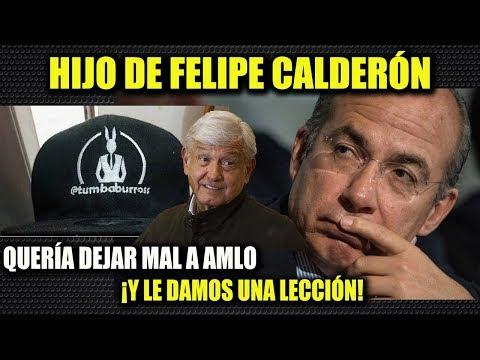 HIJO DE FELIPE CALDERÓN ¡QUERÍA DEJAR MAL A AMLO! Y LO DEJAMOS SIN ARGUMENTOS