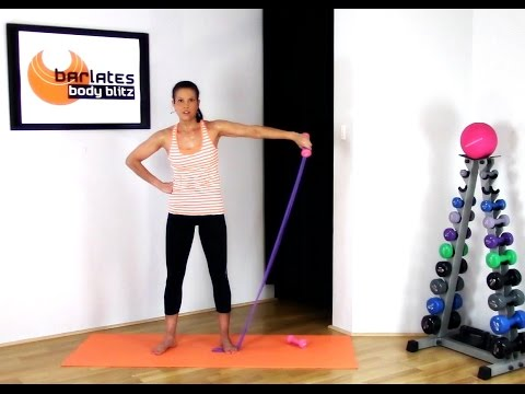 FREE Resistance Band Arms Workout - Upper Body band and weights BARLATES BODY BLITZ