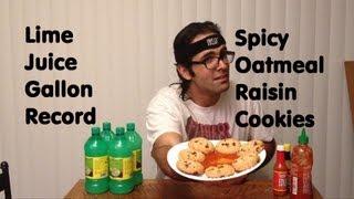 Gallon Of Lime Juice (record) & Habanero Sriracha Oatmeal Cookies (spice Wars Ep 4) *stupid Idea