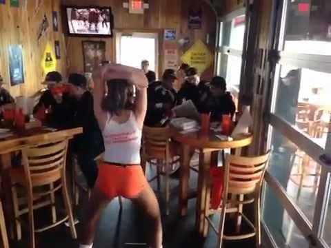 harlem shake at hooters western club baseball youtube