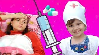 ПОСЛУШНЫЙ ПАЦИЕНТ Лиза и веселый доктор Арина  | Risha Arisha