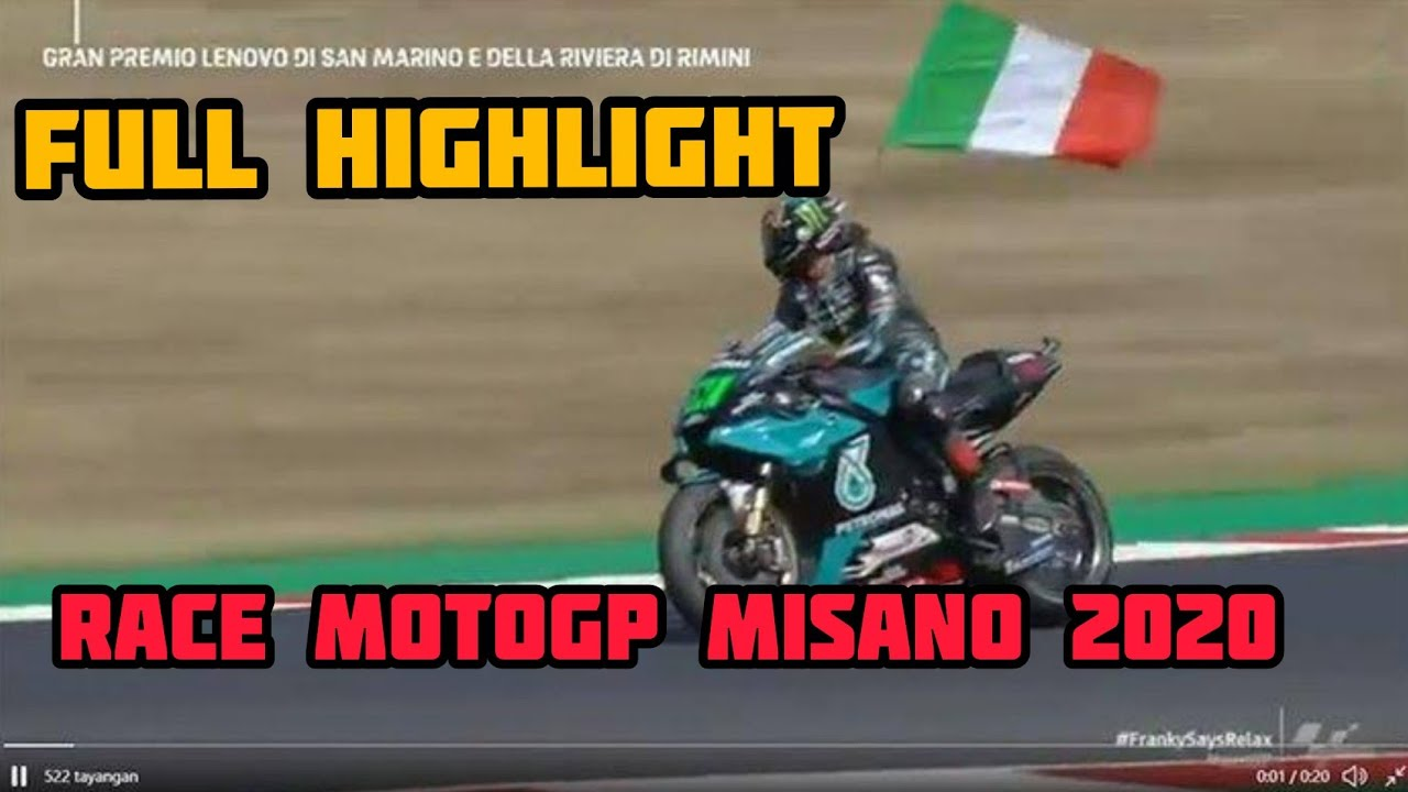 Full HIGHLIGHT Race Motogp Misano 2020 - YouTube