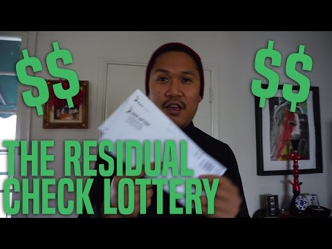 Actor's Life: The Residual Check Lottery