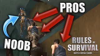 NOOBS WITH WEAPONS VS PROS WITHOUT WEAPONS! Rules of Survival Custom Game Modes