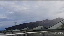 Dairy farm solar energy installation
