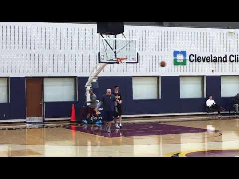 Isaiah Thomas goes  through full contact drills