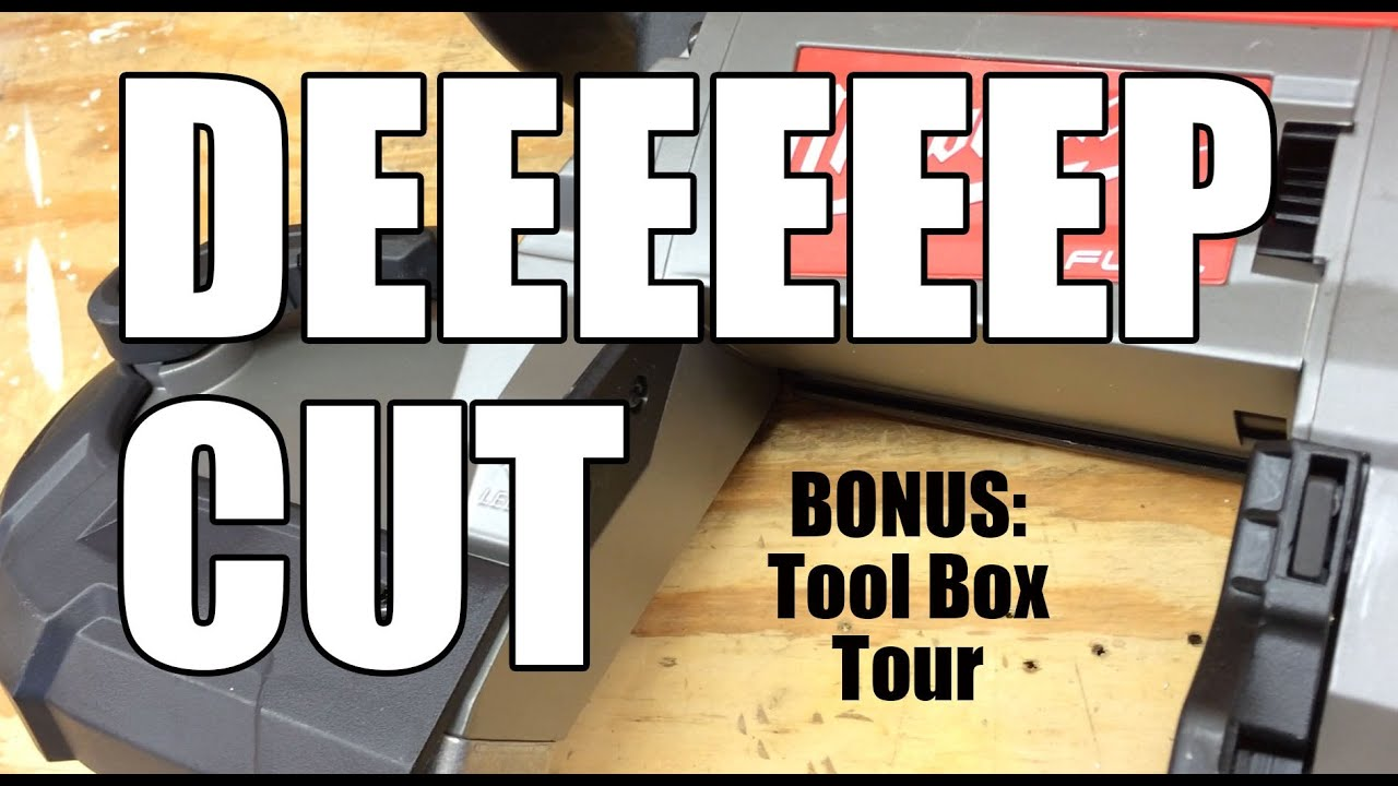 milwaukee m18 fuel 18v cordless deep cut band saw and tool box tour