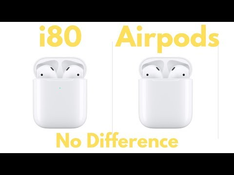i80 TWS Unboxing Features and Sneak Peek | No difference between the i80 and the Airpods