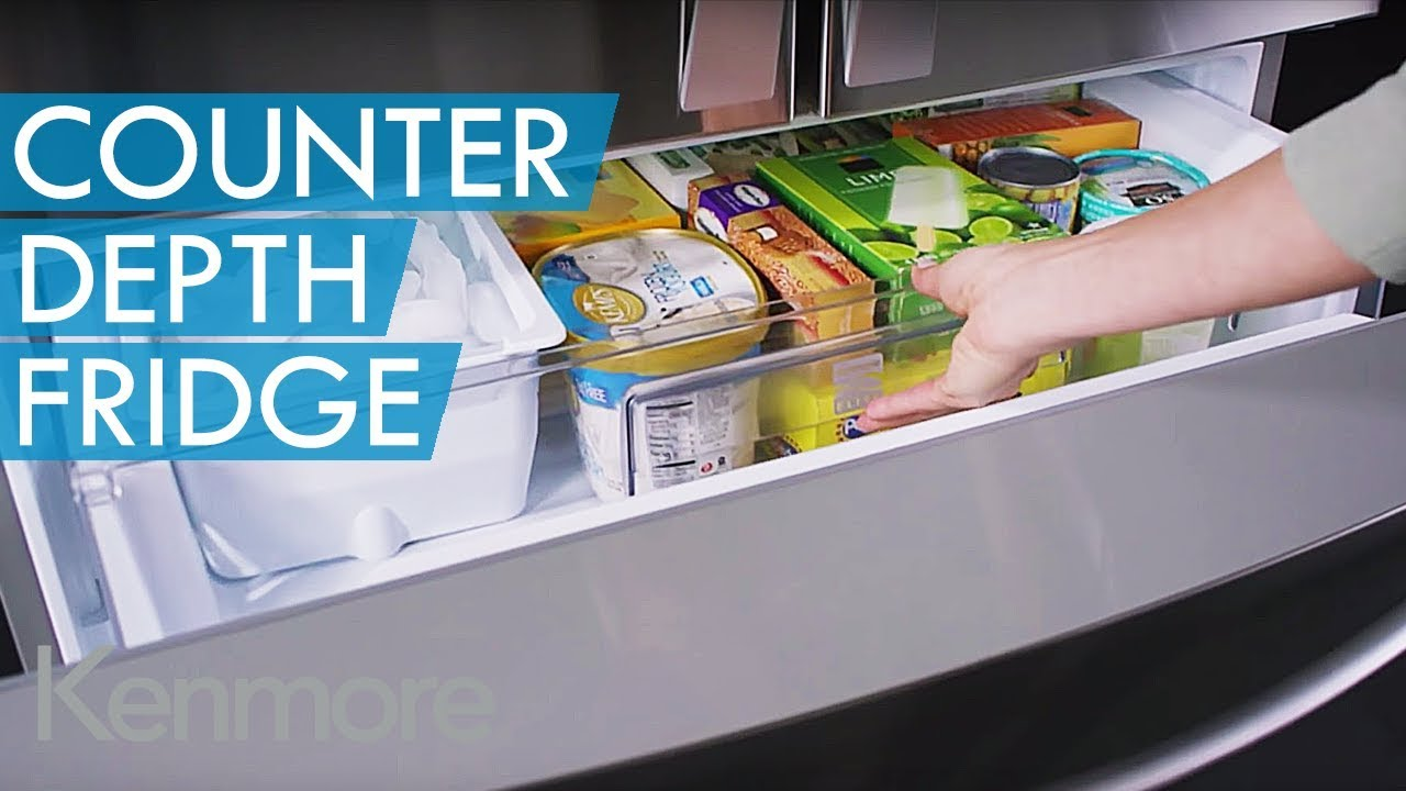Kenmore Elite Counter Depth French Door Refrigerator Part - 17: Kenmore Elite Counter-Depth French Door Bottom-Freezer Refrigerator
