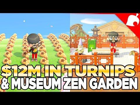 12 Million Bells in the Stalk Market & Finish the Museum Zen Garden in Animal Crossing new Horizons