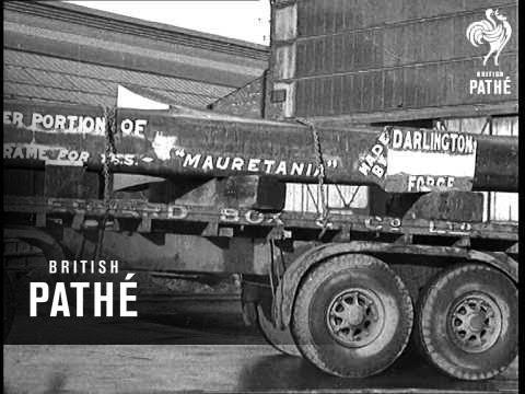 Mauretania Nears Completion At Birkenhead (1938)