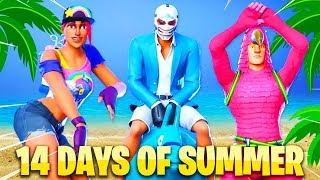 *NEW* ALL 14 DAYS OF SUMMER REWARDS LEAKED GAMEPLAY! ( Fortnite: All Rewards Leaked)