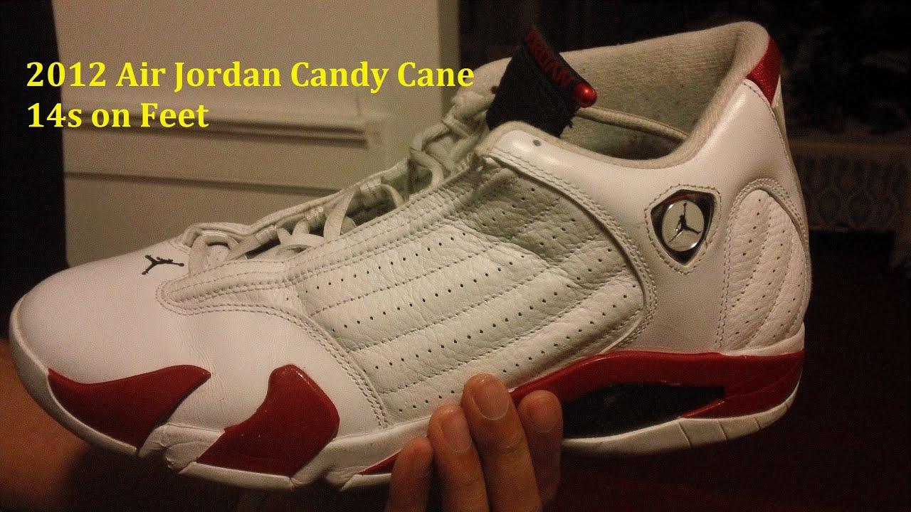 pretty nice b4101 382a9 2012 Air Jordan Candy Cane 14s on Feet - My First Hip-hop Beat -  AnAsianBr0skii