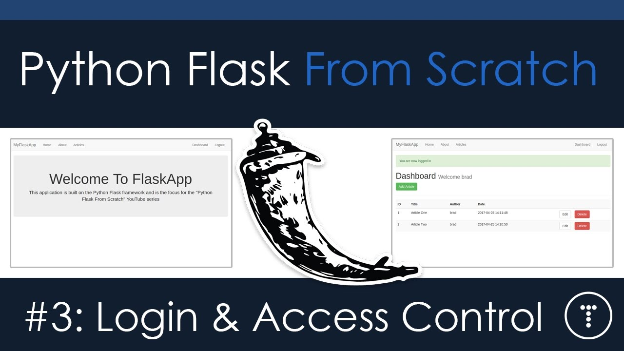 Python Flask From Scratch [Part 3] - Login & Access Control