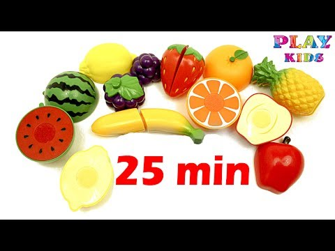 Fruits - Compilation video for kids | Spelling English Words | Learning name fruits and berries