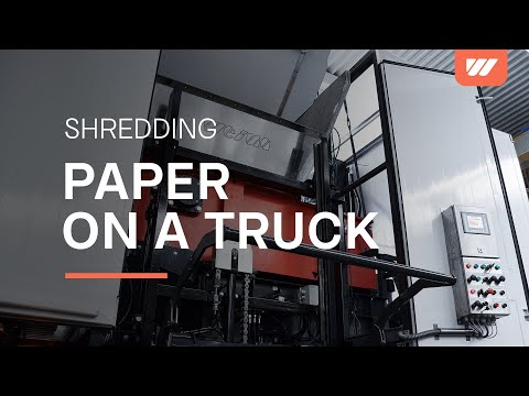 WEIMA mobile paper shredding on a truck