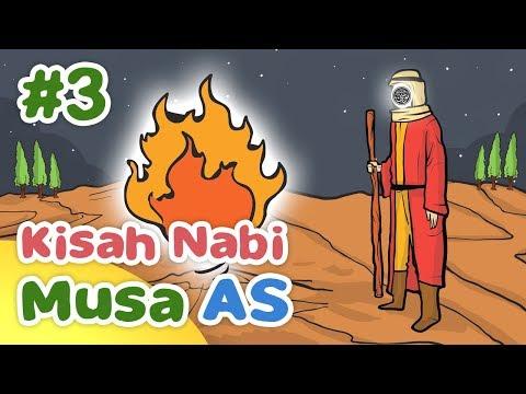 Kisah Nabi Musa AS Ketika Diangkat Menjadi Nabi dan Rasul - Kartun Anak Muslim Indonesia