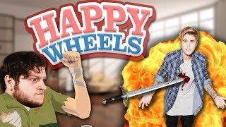 THE BIEBER SLAYER! | BEST OF AUGUST! - (Happy Wheels Funny Moments!)