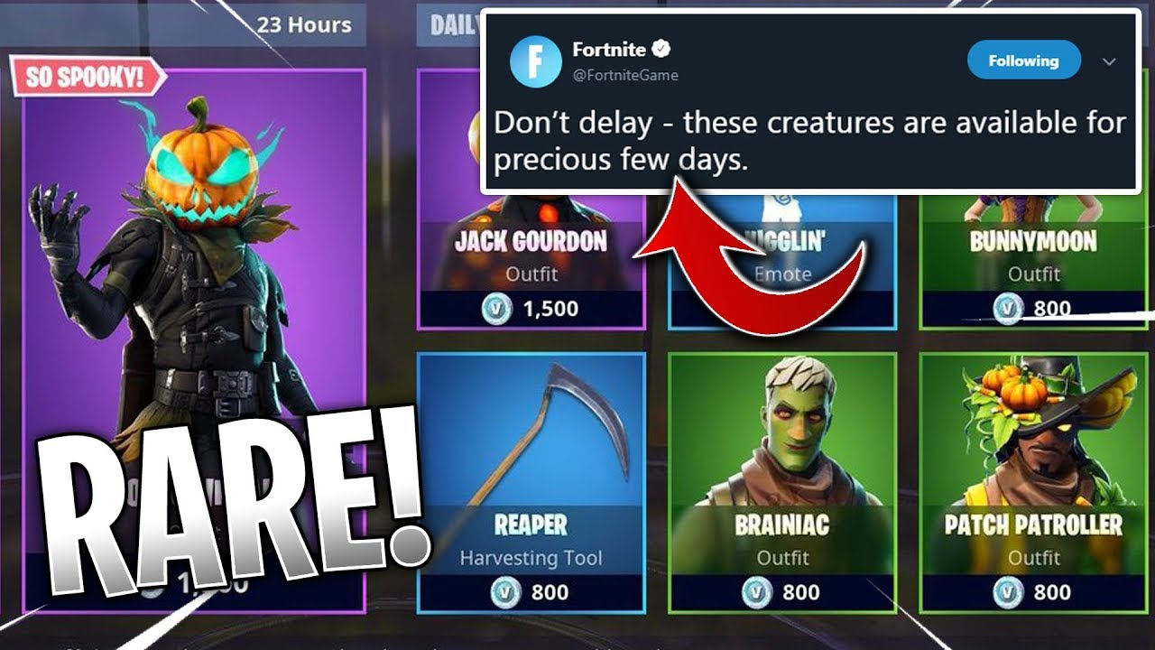 Rare Halloween Skins Fortnite.The Next Rare Skins Are In This Item Shop Fortnite