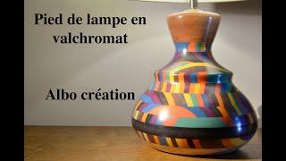 TOURNAGE PIED DE LAMPE EN VALCHROMAT. 393
