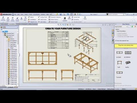 furniture in solidworks