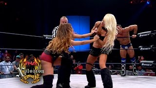 Xplosion Match:  Jessie Godderz & Angelina Love vs. Knux and Rebel