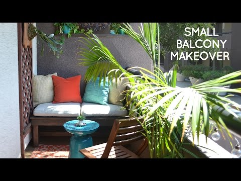 DIY small rental balcony makeover on a budget