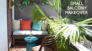 Video DIY small rental balcony makeover on a budget download MP3, 3GP, MP4, WEBM, AVI, FLV Juli 2018