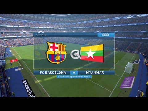 PES 2016 FC BARCELONA VS MYANMAR FULL MATCH
