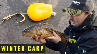 WINTER CARP FISHING MOBILE STILLWATER BOMB FISHING