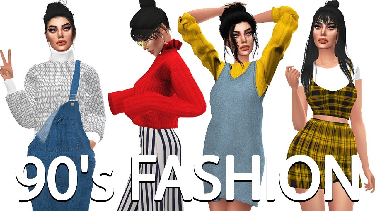 The Sims 4: 90's Fashion Lookbook | Sim + FULL CC LIST ...