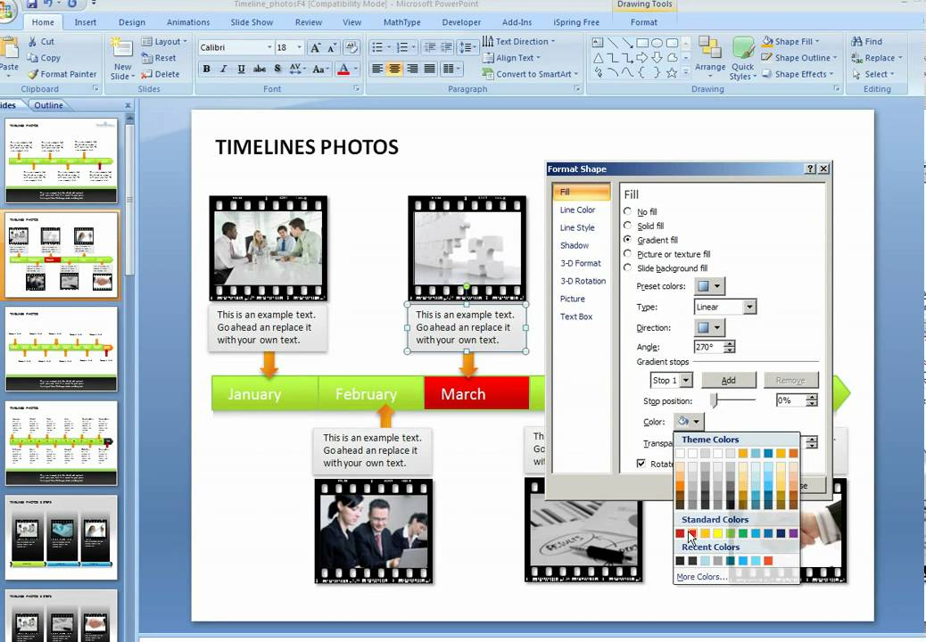 How to create a graphical timeline in PowerPoint - YouTube