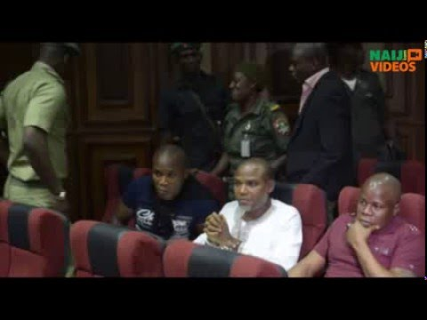 Drama in court as Kanu refuses to let his handcuffs be removed