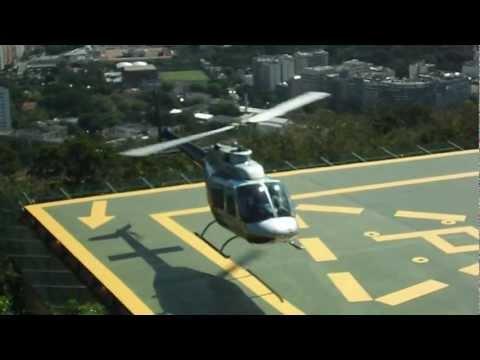Heli landing at Sugarloaf Heli Port